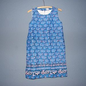 Crewcuts Dresses - CREWCUTS Blue Floral Girls' Printed Bow-Back Dress
